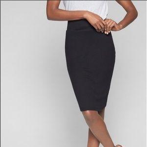 Athleta Jersey Black Pencil Skirt XS